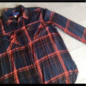Softest Navy/Brick Plaid Flannel